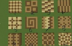 Minecraft floor patterns