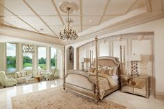 Grande chambre à coucher avec son propre salon