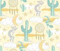 Sweet Desert Dreams fabric by lisakubenez on Spoonflower - custom fabric