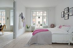 white base + pink accents - my ideal home...