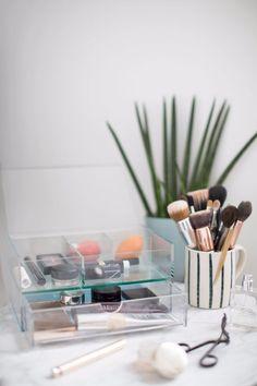 (paid link) burgundy makeup see 2021 #burgundymakeuplook Makeup Storage Drawers, Makeup Storage Organization, Storage Ideas, Closet Storage, Storage Bins, Food Storage, Organization Ideas, Storage Solutions, Rangement Makeup