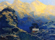 Getting Away from It All Maxfield Parrish - 1961 Private collection Painting Height: 29.21 cm (11.5 in.), Width: 39.37 cm (15.5 in.)