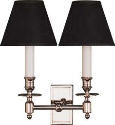 DOUBLE FRENCH LIBRARY SCONCE
