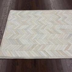 Bennington Cowhide 5' x 8' Rug in Natural - Textured Ground on Wayfair