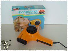 Weiteres - Atlas Hochleistungs-Haartrockner - 70er Fön orange - Von Vintageschippie bei DaWanda.
