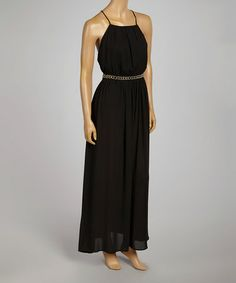 This Black Dominique Maxi Dress is perfect! #zulilyfinds