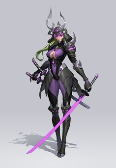 Cyberpunk by Jun Luo on ArtStation. Its funny because i made a character exactly like this. Female Character Design, Character Design References, Character Design Inspiration, Character Concept, Character Art, Concept Art, Fantasy Girl, Anime Fantasy, Akali League Of Legends