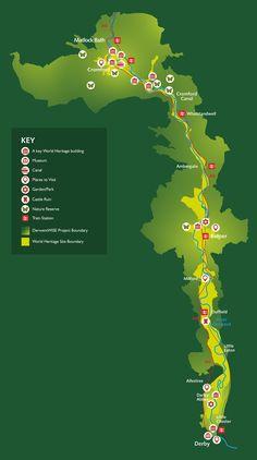 Derwent Valley-Map of Attractions