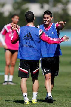 Entrenamiento del Real Madrid | Isco Alarcón & James Rodríguez.