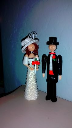 3-d quilling Bride and Groom