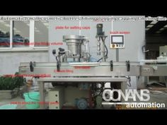 Automatic small cosmetic bottles filling plugging capping labeling line ...
