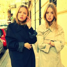 Oversize me! #StreetStyle #JohanssonSisters #IN2ITIONSTYLE #Trench #Coats