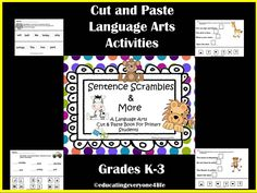 Cut and Paste Language Arts Educational Activities. Grades K-3: RTI