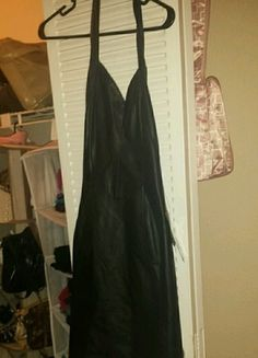 Totally Hot Black Leather Dress $41 is made for someone very petite and has never been worn - NWT!