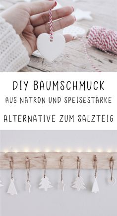 DIY Weihnachtsbaumschmuck aus Speisestärke und Natron DIY Christmas tree decorations made of cornflour and soda. The nice alternative to salt dough. Make tree decorations yourself. DIY project for Christmas. Pot Mason Diy, Mason Jar Crafts, Noel Christmas, Christmas Crafts, Christmas Decorations, Diy Christmas Tree Decorations, Diy 2019, Navidad Diy, Ideias Diy
