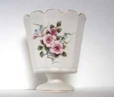 Lefton+China+Bisque+Porcelain+Vase+by+jpcountrymarket+on+Etsy,+$16.00