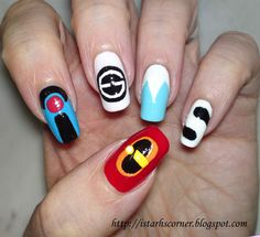 "The Incredibles Nails! ""WHERE IS MY SUPER SUIT?!"" I can't believe I found this!!!"