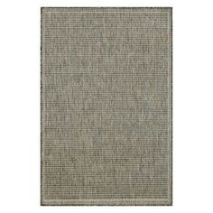 Terrace Texture Rug-Color:Silver/Ivory,Size:35 inchLx23 inchWx0.125 inchH, Beige