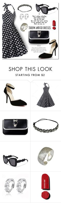 """""""TD4/3"""" by jecakns ❤ liked on Polyvore featuring Chanel, outfit, PolkaDots, NightOut, dress and easypeasy"""