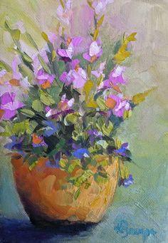 Basket of Joy by Kelley Brugh, 5x7, oil on canvas, SOLD © Kelley Brugh Fine Art www.kelleybrugh.com