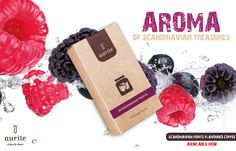 SCANDINAVIAN FRUITS £7.49  Flavoured Coffee.  Cranberry, blueberry, blackberry, raspberry and cloudberry and the treasures of Scandinavia.  #coffee #espresso #drink #coffeelove #flavouredcoffee  #aurile #cranberry #blueberry #blackberry #raspberry