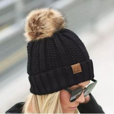 22d90f99563 CC® Fur Lined Pom Beanie