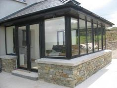 Dalgan Windows manufacturers of exterior energy rated windows, doors and stairs located in Shrule on the Galway Mayo border Energy Efficient Windows, Energy Efficiency, Galway Ireland, House Extensions, Conservatory, Sunroom, My House, Porch, Stairs