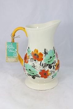 The Pioneer Woman Flea Market Floral Pitcher ** New ** With tag