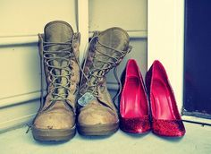 His Boots and Her Heels.  This will always be one of my favorite pictures <3