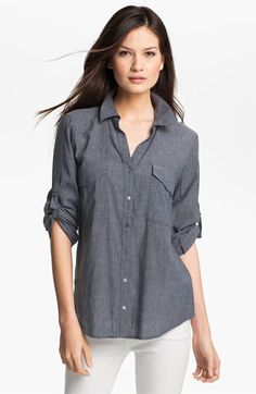 Eileen Fisher Chambray Shirt available at #Nordstrom