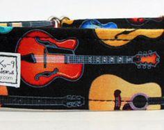 Guitar Adjustable Martingale Dog Collar - Made to Order -