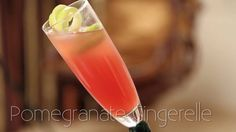 Pomegranate Gingerelle - Mocktail Recipe #Pomegranate #Summer #Drinks