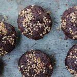 Chocolate Chocolate Chip Zucchini Muffins with Buckwheat Streusel Topping