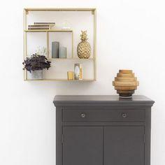Etagère murale en métal filaire gold Uptown - GM | DECOCLICO Floating Shelves, Home Decor, Console, Wall Shelves, Minimalist, Home, Furniture, Room, Decoration Home