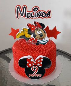 Minnie Mouse Birthday Cakes, Minnie Mouse Theme, Mouse Cake, Mickey Mouse, Bolo Fake Minnie, Pink Palette, Confectionery, Cute Photos, Themed Cakes