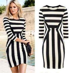 Vestidos de moda » Vestidos a rayas 4
