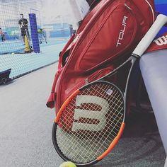 Pinを追加しました!/今週かなりスケジュールタイトで、久々深夜の #修行 なう。 本日はボレー強化! #tennis #wilson #burn95cv #nike