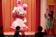 Inside Hello Kitty Kawaii Paradise was a giant rabbit that was teaching a few kids how to do dance.