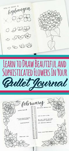 Learn to draw beautiful and sophisticated flower doodles in your bullet journal! These bullet journal doodles are the perfect decoration for any layout. Beautify your bujo with ease by using these epic flower tutorials.