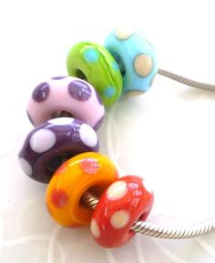 Sunspots Beads by Lush Lampwork  to fit Pandora by LushLampwork, £21.00