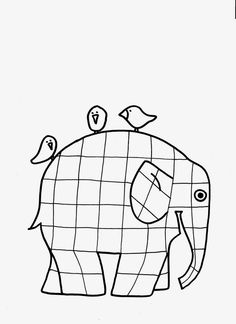 & Across& Elmer the Patchwork Elephant coloring page Marker Kunst, Marker Art, School Projects, Projects To Try, Elephant Coloring Page, Elephant Quilt, Book Club Books, Baby Quilts, Art Lessons