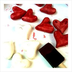 paper clay hearts
