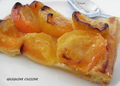 Fine apricot tart by C. Lignac - Fine apricot tart by C. Coconut Recipes, Tart Recipes, Cupcake Recipes, Cookie Recipes, Cupcake Cakes, Snack Recipes, Easy Smoothie Recipes, Easy Smoothies, Good Healthy Recipes