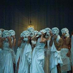 """newtonscamader: """" eyesaremosaics: """"'Mount Olympus, To glorify the cult of the Tragedy' : Jan Fabre' s 24 hour groundbreaking performance now in Roma at Teatro Argentina. Greek Tragedy, Mount Olympus, Fabre, The Secret History, Scenic Design, Greek Gods, Stage Design, Greek Mythology, Ancient Greece"""