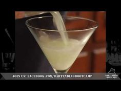 How to make an Apple Martini Cocktail - Drink recipes from Bartending Bootcamp