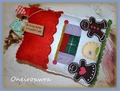 Τσόχινο Σπιτάκι με ξύλινο μήνυμα. Ιδανικό Χριστουγεννιάτικο δωράκι #χριστουγέννιατικοδώρο #στολίδι