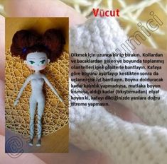 AMİGURUMİ MİRA BEBEK TARİFİ Crochet Doll Pattern, Crochet Patterns, Free Crochet, Crochet Hats, Amigurumi Doll, Doll Patterns, Barbie, Teddy Bear, Dolls