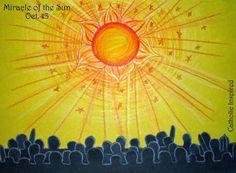 Miracle of the Sun ~ Art Project ~ Our Lady of Fatima ~ Catholic Inspired