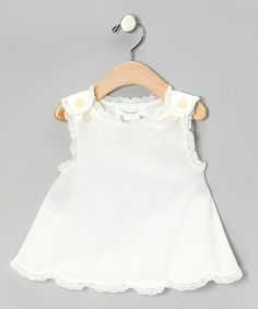 Take a look at this White Antique Tunic - Infant, Toddler & Girls by Right Bank Babies on #zulily today!