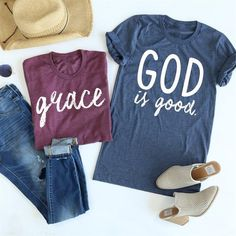 #Valentines #AdoreWe #Jane.com - #Beadsbee Boutique God is Good Tees - AdoreWe.com